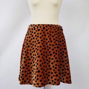 Madewell Rust/Burnt Orange & Black Polka Dot Skirt